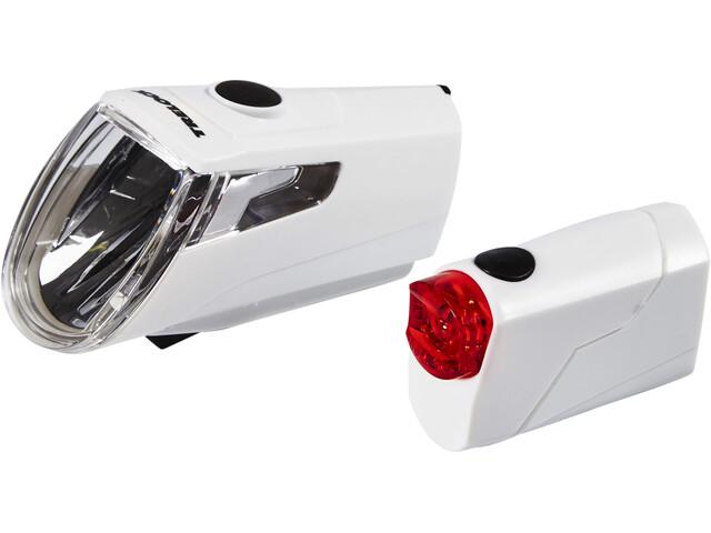 Trelock LS 360 I-GO ECO+LS 720 REEGO Akkubeleuchtung-Set weiß